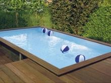 Houten zwembad gekocht tuin en huis for Ingebouwd zwembad zelf maken